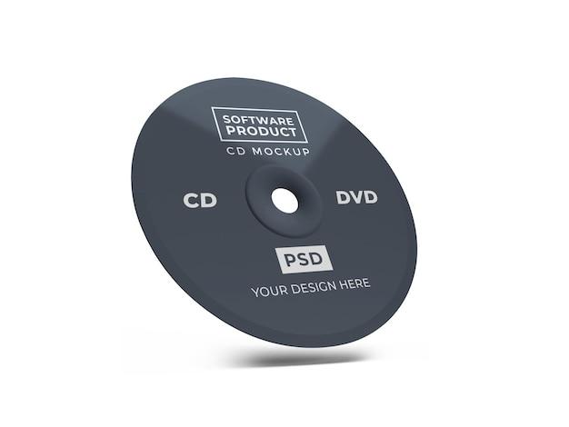 Conception de maquette 3d cd de disque compact