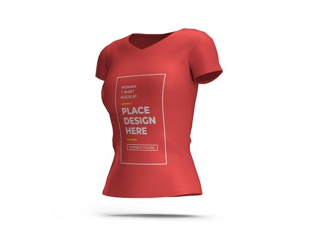 Conception de maquette 3d femme tshirt isolé
