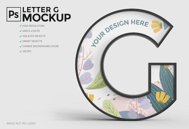 Conception de maquette 3d lettre g dans le rendu 3d