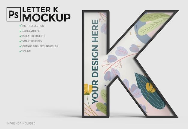 Conception de maquette 3d lettre k dans le rendu 3d