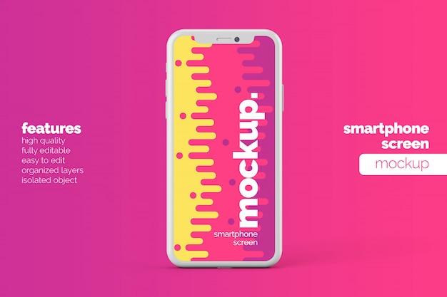 Conception de maquette d'affichage d'écran de téléphone portable moderne réaliste modifiable
