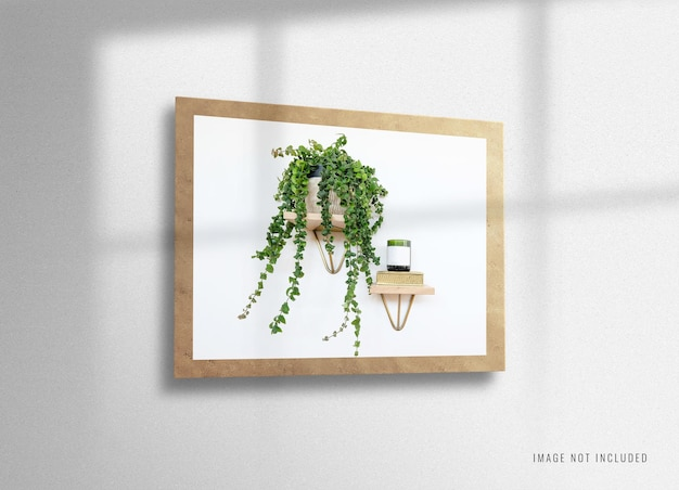 Conception de maquette d'affiche intérieure à la maison