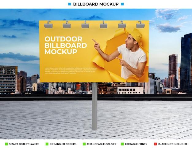 Conception de maquette d'affiche de panneau d'affichage extérieur