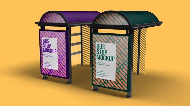 Conception de maquette d'arrêt de bus isolée