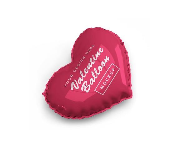 Conception de maquette de ballon coeur saint-valentin isolée