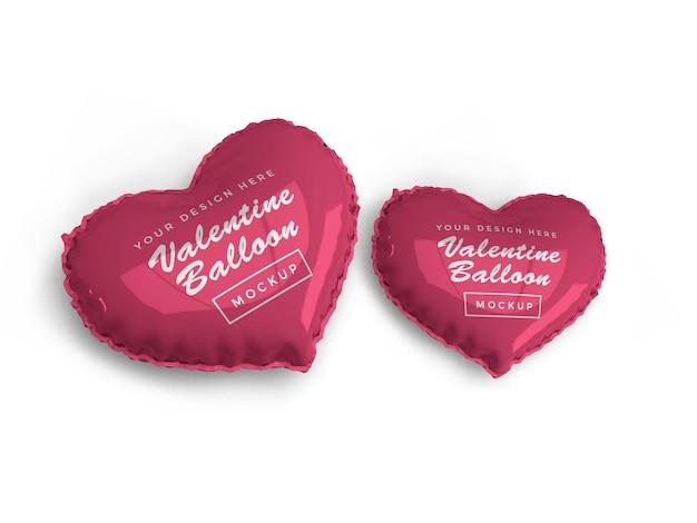 Conception de maquette de ballon coeur saint-valentin