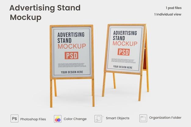 Conception de maquette de bannière de stand publicitaire psd premium