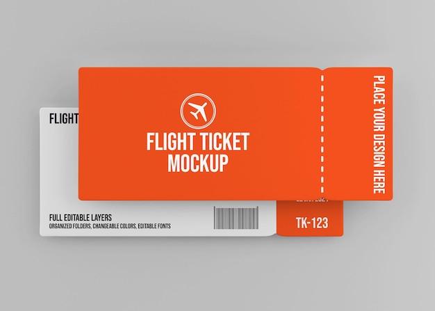 Conception de maquette de billet d'avion réaliste isolée