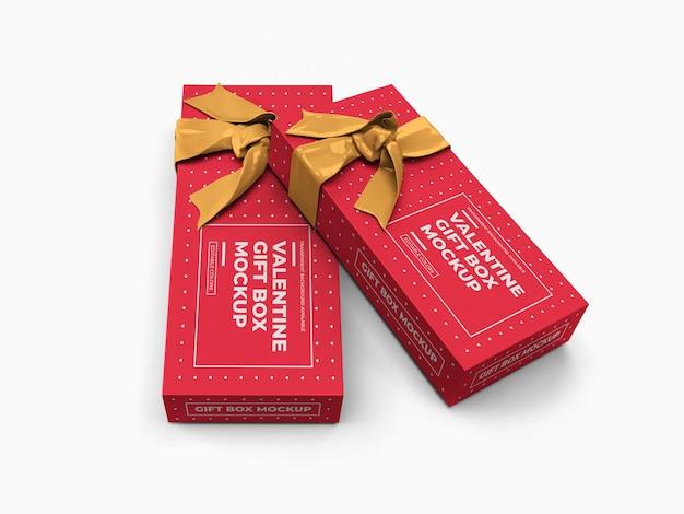 Conception de maquette de boîte-cadeau saint-valentin