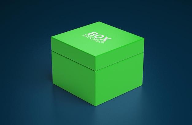 Conception de maquette de boîte carrée simple isolée