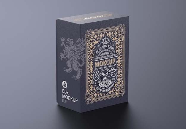 Conception de maquette de boîte en carton de luxe