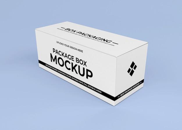 Conception de maquette de boîte en carton