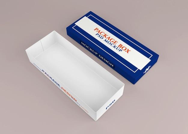Conception de maquette de boîte d'emballage en carton
