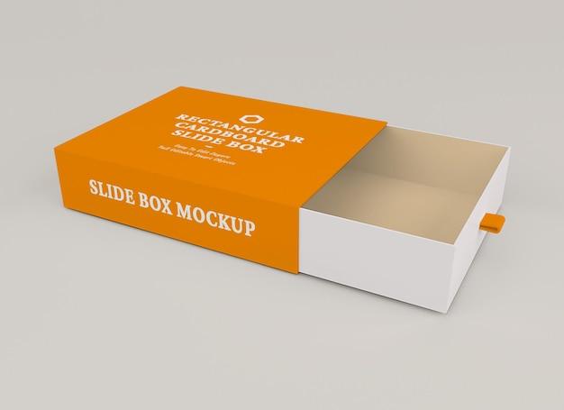 Conception de maquette de boîte à glissière isolée