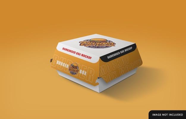 Conception de maquette de boîte à hamburger