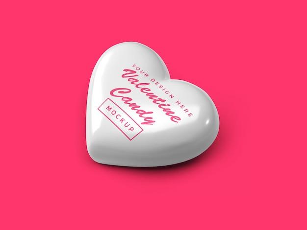 Conception de maquette de bonbons coeur saint-valentin isolée