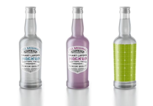 Conception de maquette de bouteille d'eau tonique