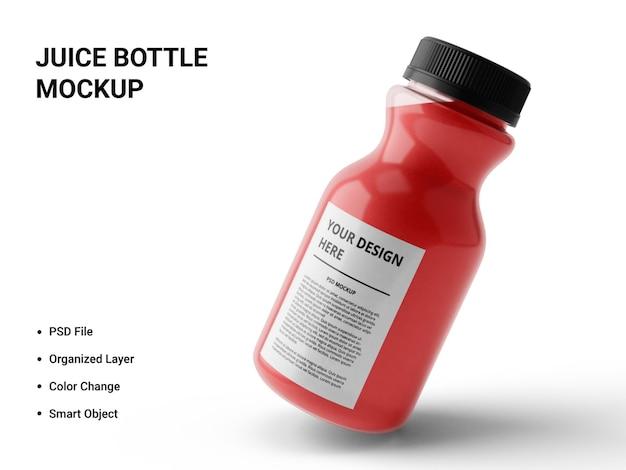 Conception de maquette de bouteille de jus