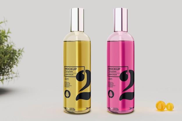 Conception de maquette de bouteille de parfum dans le rendu 3d