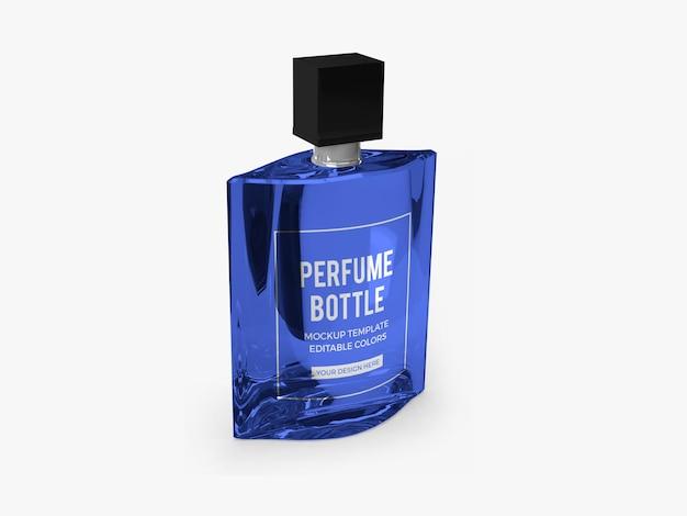 Conception de maquette de bouteille de parfum rendu isolé