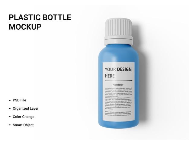 Conception de maquette de bouteille en plastique isolée