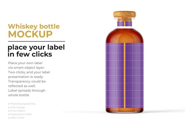 Conception de maquette de bouteille de whisky dans le rendu 3d