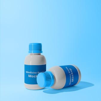 Conception de maquette de bouteilles de pot de médecine 3d réaliste