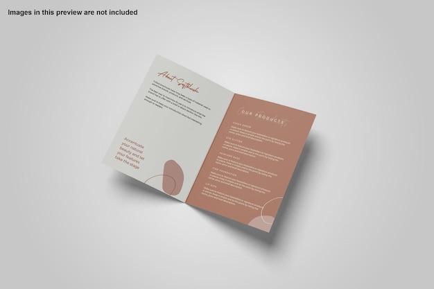Conception de maquette de brochure à deux volets a4