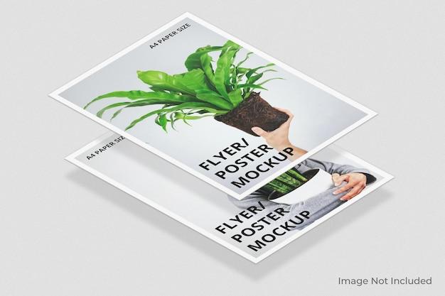 Conception de maquette de brochure flyer flottant