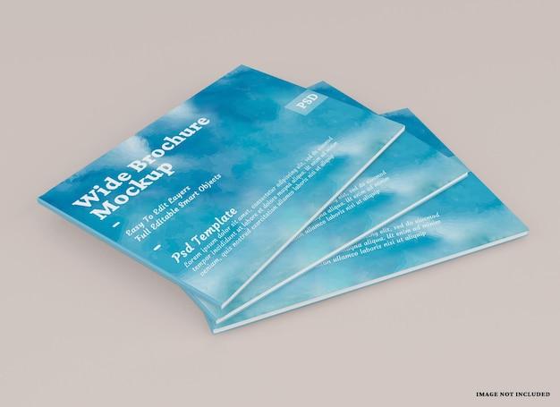 Conception de maquette de brochure large isolée