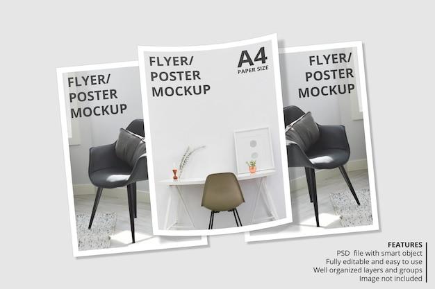 Conception de maquette de brochure papier ou flyer réaliste