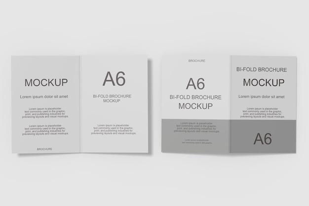 Conception de maquette de brochure pliante dans le rendu 3d