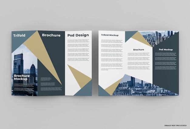 Conception de maquette de brochure à trois volets élégance