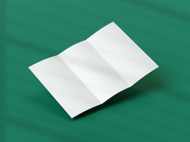 Conception de maquette de brochure à trois volets réaliste