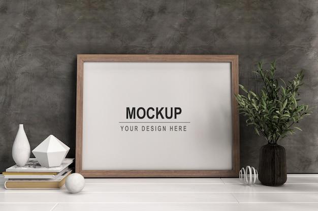 Conception de maquette de cadre d'affiche dans le rendu 3d