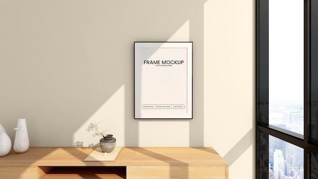 Conception de maquette de cadre blanc rendu 3d
