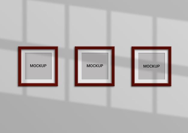 Conception de maquette de cadre carré
