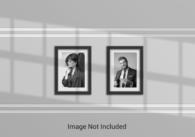 Conception de maquette de cadre photo au format a4