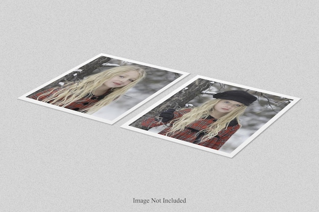 Conception de maquette de cadre photo polaroid