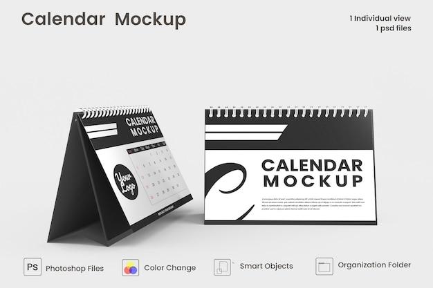 Conception de maquette de calendrier de bureau en spirale
