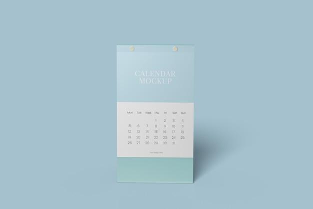 Conception de maquette de calendrier de bureau vertical