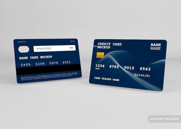 Conception de maquette de carte de crédit réaliste isolée
