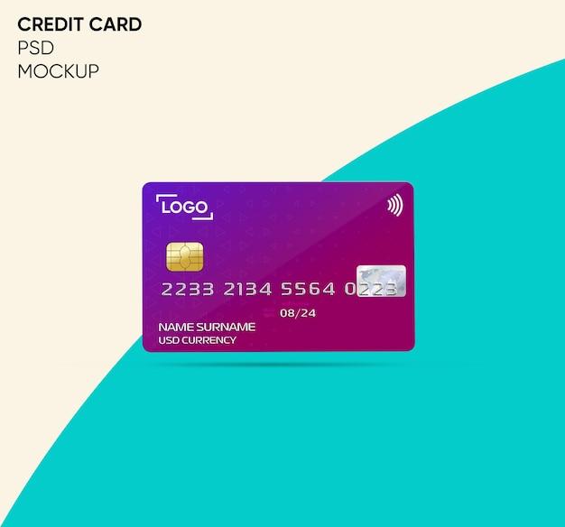 Conception de maquette de carte de crédit