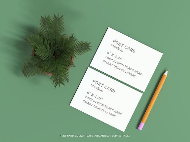 Conception de maquette de carte postale premium