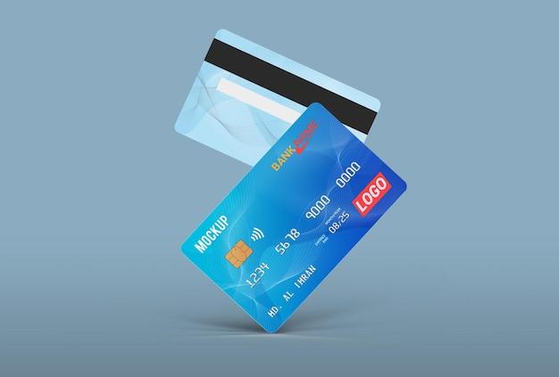 Conception de maquette de carte à puce de carte de débit