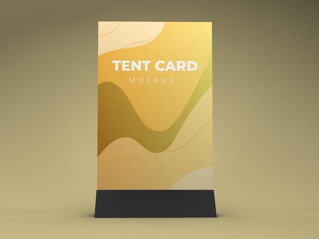 Conception de maquette de carte de tente