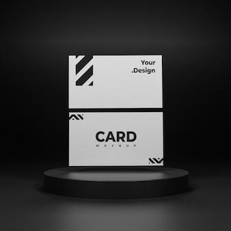 Conception de maquette de carte de visite blanche isolée
