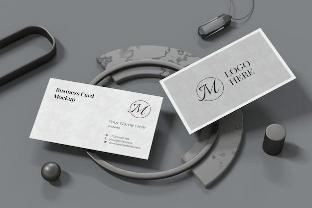 Conception de maquette de carte de visite dans le rendu 3d