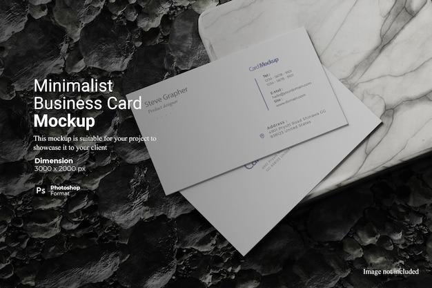 Conception de maquette de carte de visite minimaliste isolée