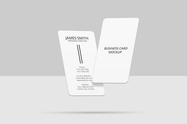 Conception de maquette de carte de visite verticale flottante